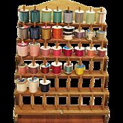 Vintage Wood 48 Thread/Spool Organizer 1970s