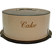 Vintage Metal Cake Carrier 1960s Good Structure Condition