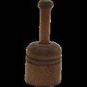 Vintage Miniature Primitive Butter Press 1920-50s Good Condition