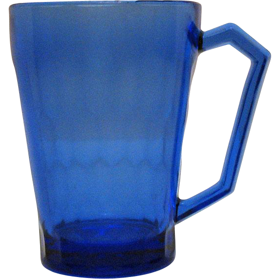 Vintage Hazel Atlas Cobalt Blue Honeycomb Pattern Depression glass 1930s Good Condition