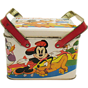 Vintage Disney Metal Lunchbox/Picnic Basket 1970s