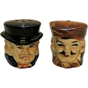 Vintage S&P Toby Head Shakers 1950s Hand Painted Good Condition