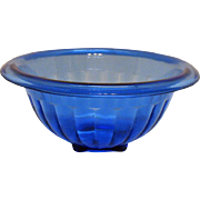 Vintage Hazel Atlas Cobalt Blue Depression glass Bowl Good Condition.