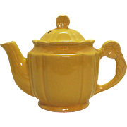 Vintage Shawnee Rosette 5 Cup Yellow Teapot 1930-41 Good Condition