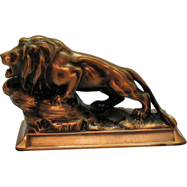 Vintage Cast Metal Lino's Club International Paperweight 1960-70s Good Condition
