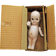 Vintage Shackman Bisque Porcelain Kewpie Doll Original Box 1950-60s Good Condition