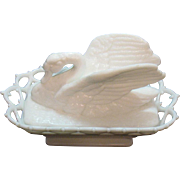 Vintage Westmoreland Milk glass Swan Covered Box 1950s