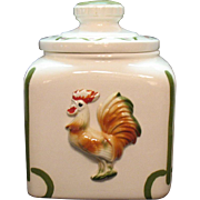 Vintage Sierra Vista Cookie Jar Rooster Motif 1950s Good Condition