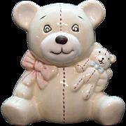 Vintage Ceramic Teddy Bear Still Bank 1970s Good Condition