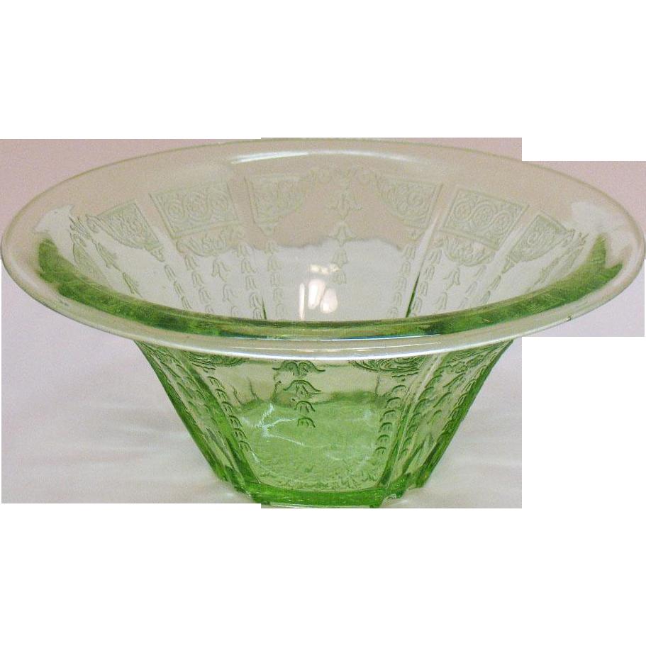 Vintage Anchor Hocking Depression glass Bowl Princess Pattern 1931-35