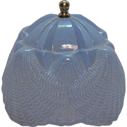 Vintage Art Deco Era Blue Lamp Shade for Southern Belle Bedroom Lamp by L.E. Smith 1930s Good Condition