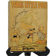 Two Vintage Walt Disney Stories the Three Little Pigs & Little Red Riding Hood 1933 1St Edition Vintage Condition