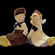 Vintage Dutch Children Ceramic Figurines Made in US Zone Germany Good Condition