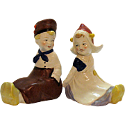 Vintage Dutch Children Ceramic Figurines Made in US Zone Germany Good Condition