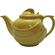 Vintage Hall Teapot Parade Pattern plus Hook Cover Canary Yellow 6 Cup Good Condition