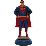 Vintage Ceramic Atlantic Mold 1970s Superman Figure Lamp Base Good Condition
