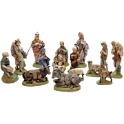 Vintage Nativity 15 Pieces Atlantic Mold 1970s Good Condition