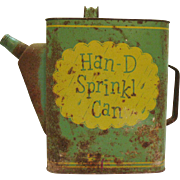 Vintage Han-D Sprinkl Can Watering Can Steel Metal 1950s Good Vintage Condition