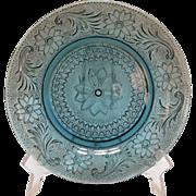 Vintage 12 Rare Tiara Salad Plates Sandwich Pattern Bi-Centennial Blue 1976 like New Condition