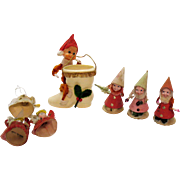 Vintage Christmas tree Ornaments and Display Figures 1950s