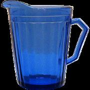 Vintage Hazel Atlas Depression glass Cobalt Blue Creamer Aurora Pattern 1937-38 Good Condition