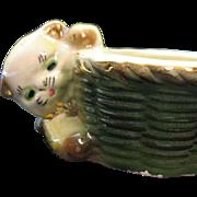 Vintage Ceramic Cat Planter 1940-50s Am. Pottery Co. Good Condition
