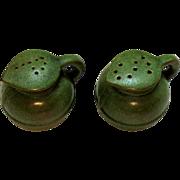 Vintage Frankoma S&P Shakers Plainsman Green Pattern 1980-2000 Good Condition