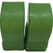 Vintage Green Rubber S&P Shakers 1950-60s Good Condition