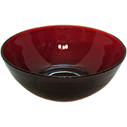Vintage Anchor Hocking Royal Ruby Large Berry Bowl 1938-60 Like New