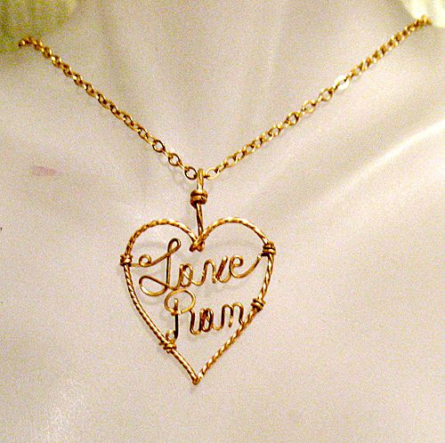 50% OFF~Vintage Hand Crafted 14KGF Necklace Love Pam Heart