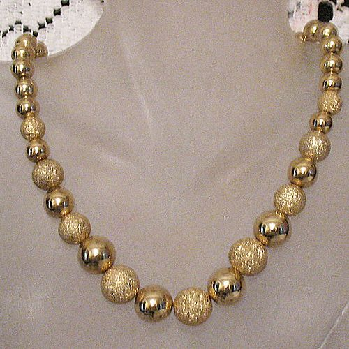 60% Off Gorgeous Vintage Necklace Golden Sugar Coated Beads Unworn