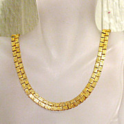 50% OFF~Unusual Vintage Golden Necklace Double Sided Weighty~UNWORN