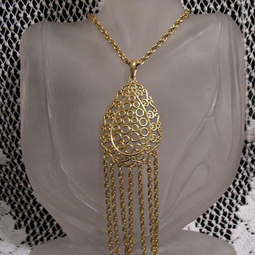 50% OFF Bold Vintage Bubble Pendant Tassel Chain Necklace UNWORN