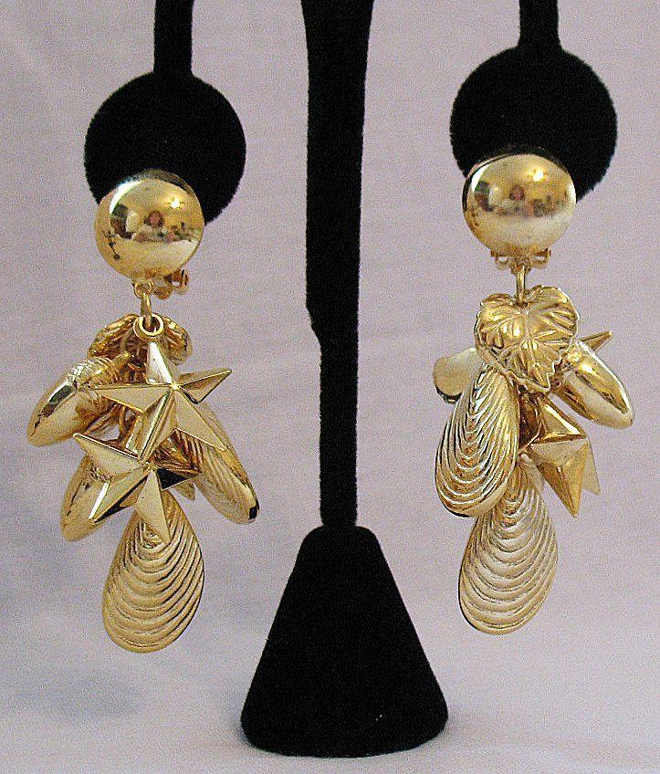 50% OFF~Fabulous Vintage Dangle Charm Statement Earrings~Unworn