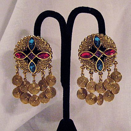50% OFF~Unique Vintage Egyptian Revival Rhinestone Charm Earrings