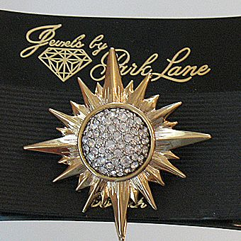 50% OFF~Breathtaking Vintage Jewels by Park Lane Pava Rhinestone Star Burst Brooch Pin~Original Packaging