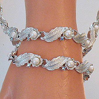 50% OFF~Vintage Floral Buttercup Signed Judy Lee Necklace Bracelet Set