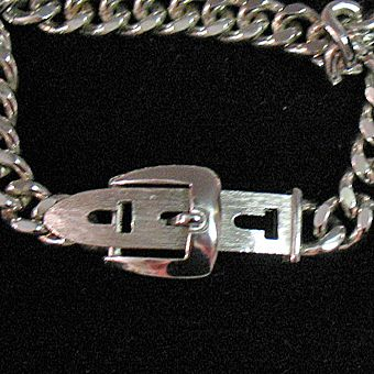 50% OFF~Chic Vintage Signed Avon 1974 Buckle Chain Bracelet Silver Plated