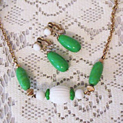 50% OFF~Vintage Signed Avon Come Summer Necklace & Earrings Set~Unworn