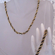 50% OFF~Vintage Twisted Robe S Chain Necklace Bracelet Set~Unisex