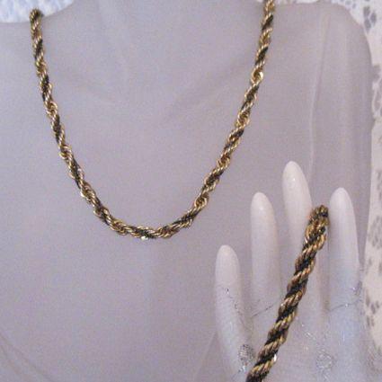 50% OFF~Vintage Twisted Robe S Chain Necklace Bracelet Set~Unisex