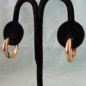 50% OFF~Signed Vintage 1965 Golden Hoop Earrings Lever/Screw Backs