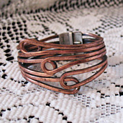 50% Off Awesome Rame Modernist Vintage Copper Clamper Bracelet