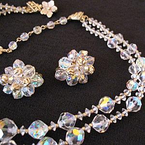 50% Off Amazing Sparkle Vendome Vintage Necklace Earrings Set 1957