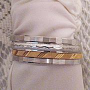 50% OFF~Vintage Signed Monet Bangle Bracelet Set of 4