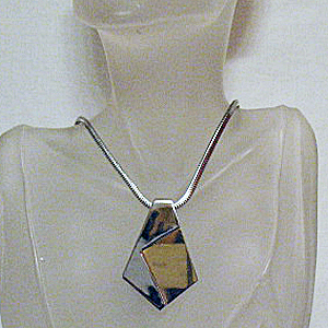50% OFF~Vintage Abstract Signed Trifari Two Tone Necklace