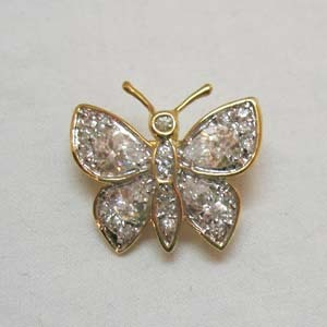 50% OFF Prettiest Vintage Pava Rhinestone Butterfly Brooch