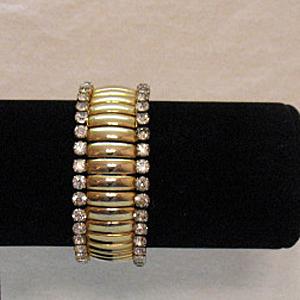 50% OFF Sparkling BLING Vintage Rhinestone Expansion Bracelet Hallmarked Trinidad