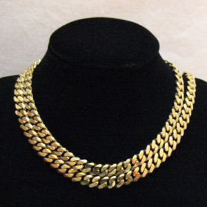 Awesome Vintage Signed Monet Chunky Chain Necklace 36 Inches