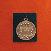 Vintage Sterling Silver Signet Charm Graduation Day